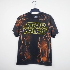Star Wars bleached distressed tee size medium
